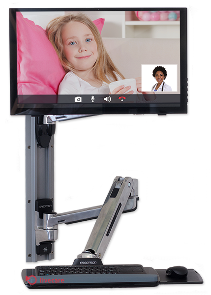 Wall Mount Telehealth Station
